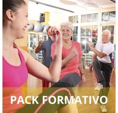 Pack formativo de Monitor de aeróbic y step para la tercera edad + Nutrición deportiva