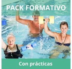 Pack formativo de Monitor de fitness acuático + Inglés deportivo con prácticas