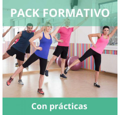 Pack formativo de Aeróbic y step + Nutrición deportiva con prácticas