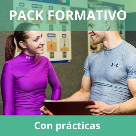 Pack formativo de Entrenador Personal + Nutrición deportiva con prácticas