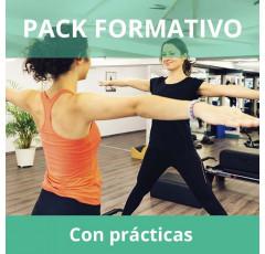 Pack formativo de Monitor de Pilates + Nutrición deportiva con prácticas