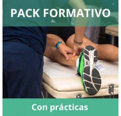 Pack formativo de Masaje Deportivo + Nutrición deportiva con prácticas