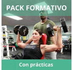Pack formativo de Monitor de musculación y fitness + Nutrición deportiva con prácticas